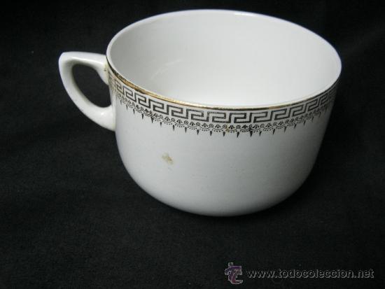 ANTIGUO TAZON DE POCELANA CON MARCA ENLA BASE SANTANDER CHINA OPACA S. XIX (Antigüedades - Porcelanas y Cerámicas - Otras)