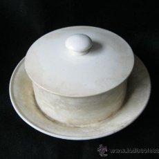Antigüedades: ANTIGUA MANTEQUILLERA DE PORCELANA SELLADA. Lote 20931165