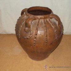 Antigüedades: ANTIQUÍSIMA OLLA DE BARRO 4 ASAS. Lote 34997867