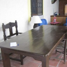 Antigüedades: MESA DE COMEDOR EN MADERA DE PINO ESTILO RÚSTICO.. Lote 35005907