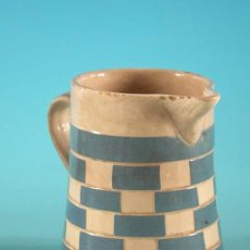 Antigüedades: JARRA DE CERÁMICA ESMALTADA EN AZUL Y CREMA. ART DÈCO. ALEMANIA 1930. Lote 35015894