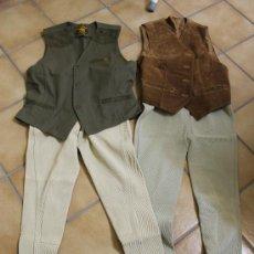 Antigüedades: CHALECOS Y PANTALONES DE MONTAR A CABALLO. Lote 35040471