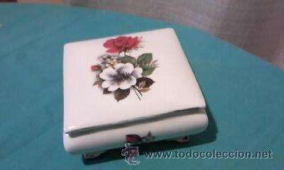 Antigüedades: Preciosa caja de porcelana ROYAL BAVARIA GERMANY. Con filos de oro. - Foto 2 - 35050066