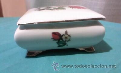 Antigüedades: Preciosa caja de porcelana ROYAL BAVARIA GERMANY. Con filos de oro. - Foto 3 - 35050066