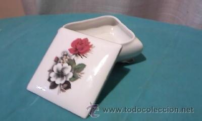 Antigüedades: Preciosa caja de porcelana ROYAL BAVARIA GERMANY. Con filos de oro. - Foto 4 - 35050066