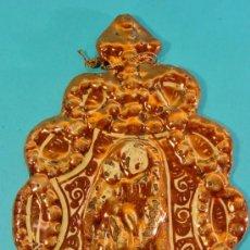 Antigüedades: BENDITERA EN CERÁMICA DE REFLEJO METÁLICO. MANISES. SIGLO XVIII.. Lote 35065334