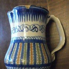 Antigüedades: GRAN JARÓN DE CERÁMICA DE MANISES EN COLORES, MEDIADOS S. XIX. Lote 35066449