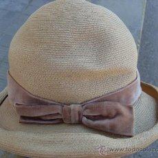 Antigüedades: SOMBRERO CON LAZO.. Lote 35072224