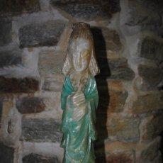 Antigüedades: FIGURA EN MARMOL MUJER ORIENTAL. MUY PESADA. 40CM. RUPTURAS EN EL MOÑO VER FOTOS. Lote 35073895