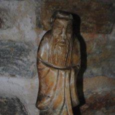 Antigüedades: FIGURA ORIENTAL EN MARMOL. 25 CM. MUY PESADA. COMO SE VE. Lote 35073959