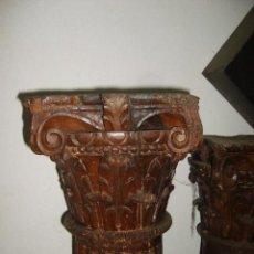 Antigüedades: PAREJA DE COLUMNAS SIGLO XVIII. Lote 35168474