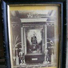 Antigüedades: ANTIGUA FOTO ENMARCADA DEL PAPA LEÓN XIII --- FINALES S.XIX - PRINCIPIOS S. XX. Lote 35172510