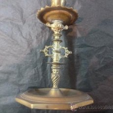 Antigüedades: CANDELERO CANDELABRO DE BRONCE. Lote 35173872