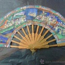 Antigüedades: ABANICO CHINO MIL CARAS. Lote 35174334