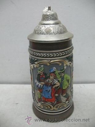 Antigüedades: Preciosa jarra de cerámica Des Gastes Spab - Foto 2 - 35172343