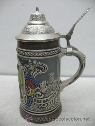 Antigüedades: Preciosa jarra de cerámica Des Gastes Spab - Foto 4 - 35172343