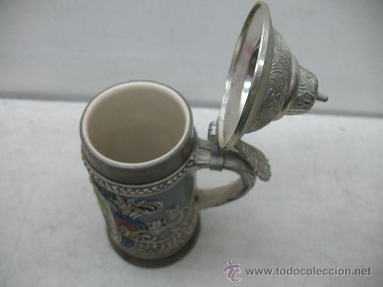 Antigüedades: Preciosa jarra de cerámica Des Gastes Spab - Foto 5 - 35172343