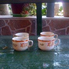 Antigüedades: ANTIGUAS 4 TAZAS DE CAFE, SELLADAS SAN CLAUDIO OVIEDO.. Lote 35184824