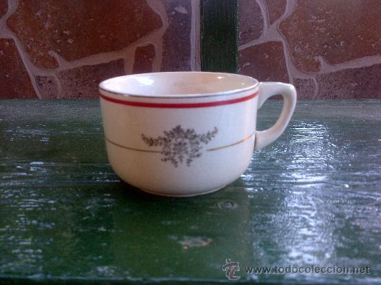 ANTIGUA TAZA DE CAFE, SELLADA SAN CLAUDIO, OVIEDO. (Antigüedades - Porcelanas y Cerámicas - San Claudio)