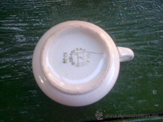 Antigüedades: antigua taza de cafe, sellada san claudio, oviedo. - Foto 2 - 35184900