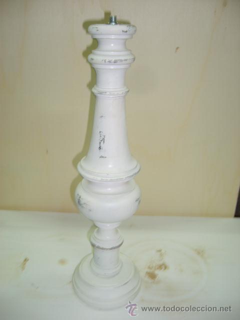 pie de lampara de madera comprar l mparas antiguas en