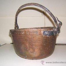 Antigüedades: CALDERA U OLLA DE COBRE. Lote 35189372