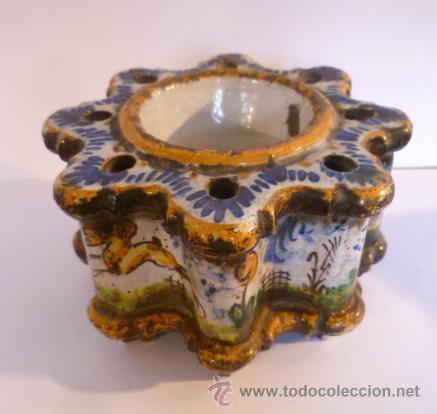 TINTERO CERAMICA DE TALAVERA. S. XIX-XX (Antigüedades - Porcelanas y Cerámicas - Talavera)