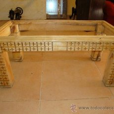 Antiquitäten - MESA BAJA DE MADERA HECHA A MANO - 79929826