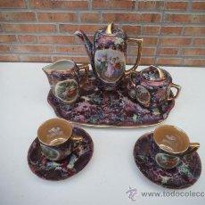 Antigüedades - juego de te porcelana tu y yo - 35210288