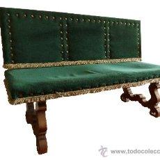 Antigüedades: BANCO DE FINALES DEL SIGLO XIX DE ESTILO BARROCO. Lote 35222066