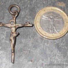 Antigüedades: PRECIOSO CRUCIFIJO PLATA SOBREDORADA SIGLO XVIII. Lote 35236004