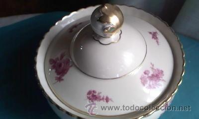 Antigüedades: Preciosa bombonera de porcelana PMR BAVARIA JASGER& CO GERMANY. - Foto 2 - 35236862