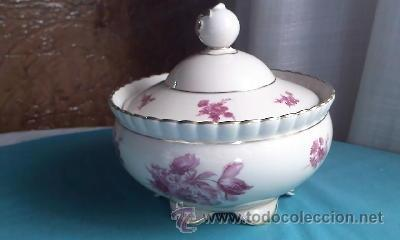 Antigüedades: Preciosa bombonera de porcelana PMR BAVARIA JASGER& CO GERMANY. - Foto 3 - 35236862