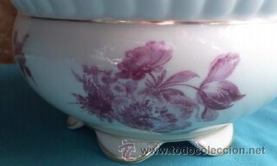 Antigüedades: Preciosa bombonera de porcelana PMR BAVARIA JASGER& CO GERMANY. - Foto 4 - 35236862