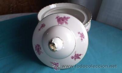 Antigüedades: Preciosa bombonera de porcelana PMR BAVARIA JASGER& CO GERMANY. - Foto 5 - 35236862