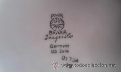 Antigüedades: Preciosa bombonera de porcelana PMR BAVARIA JASGER& CO GERMANY. - Foto 6 - 35236862
