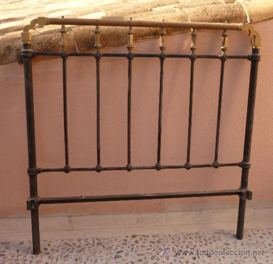Cabecero de cama en hierro y bronce comprar camas - Cabeceros de cama antiguos ...