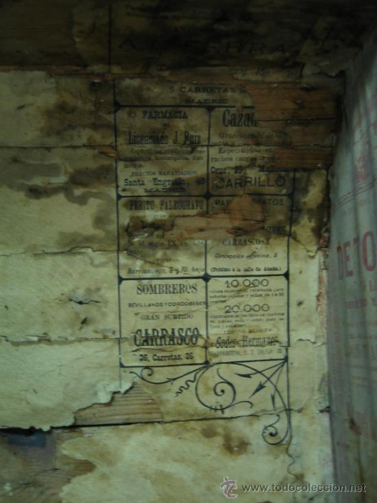 Antigüedades: Baul o Esporton antiguo de Torero. Forrado con el cartel de la retirada de Lagartijo. 44x42x68 cm - Foto 32 - 105631902