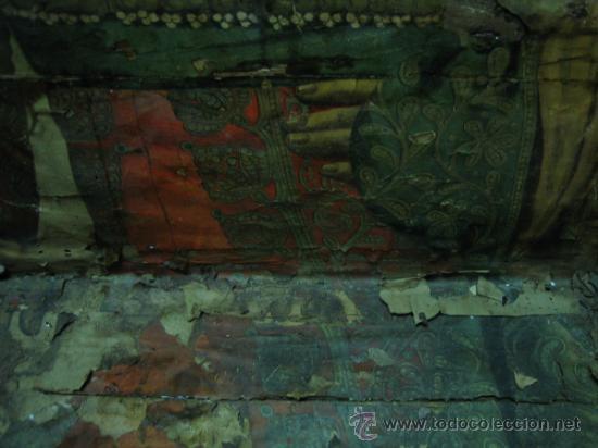 Antigüedades: Baul o Esporton antiguo de Torero. Forrado con el cartel de la retirada de Lagartijo. 44x42x68 cm - Foto 29 - 105631902