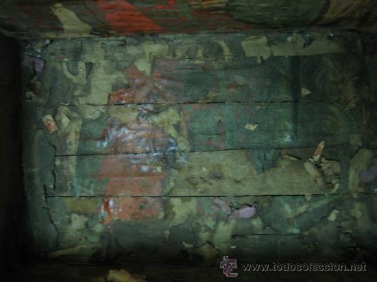 Antigüedades: Baul o Esporton antiguo de Torero. Forrado con el cartel de la retirada de Lagartijo. 44x42x68 cm - Foto 28 - 105631902