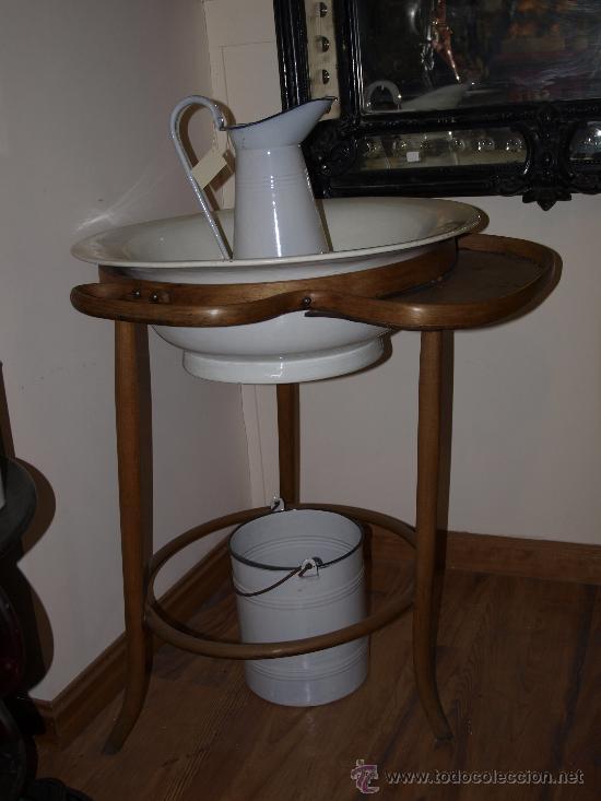 Lavabo palanganero de madera tipo thonet pa comprar - Muebles antiguos sevilla ...
