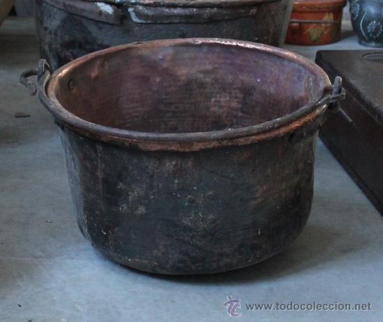 CALDERO DE COBRE (Antigüedades - Técnicas - Rústicas - Utensilios del Hogar)