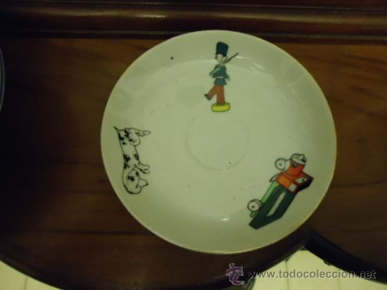 FABRICA DE PORCELANA SANTA CLARA PLATO INFANTIL, CON DIBUJOS, 15 CM (Antigüedades - Porcelanas y Cerámicas - Santa Clara)