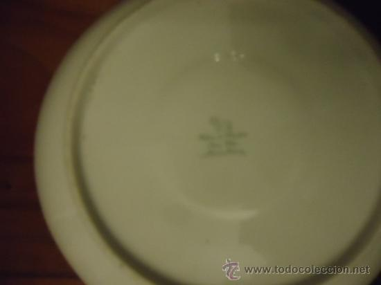 Antigüedades: fabrica de porcelana santa clara plato infantil, con dibujos, 15 cm - Foto 2 - 35349126