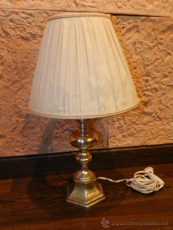Antigüedades: PRECIOSA LAMPARA DE SOBREMESA EN BRONCE PLATEADO - Foto 10 - 35362815