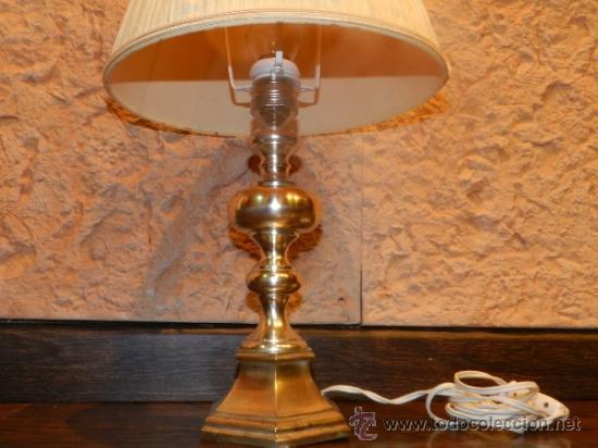 Antigüedades: PRECIOSA LAMPARA DE SOBREMESA EN BRONCE PLATEADO - Foto 11 - 35362815