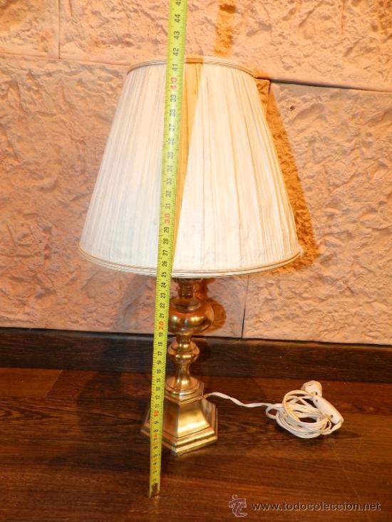Antigüedades: PRECIOSA LAMPARA DE SOBREMESA EN BRONCE PLATEADO - Foto 12 - 35362815