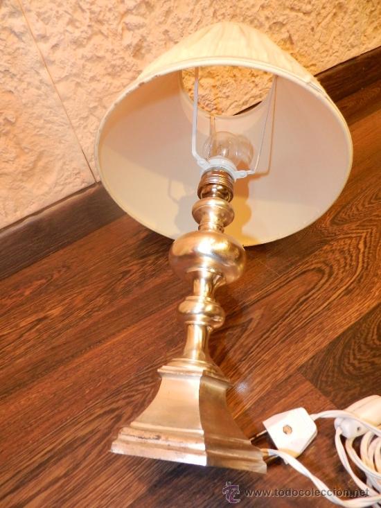 Antigüedades: PRECIOSA LAMPARA DE SOBREMESA EN BRONCE PLATEADO - Foto 9 - 35362815