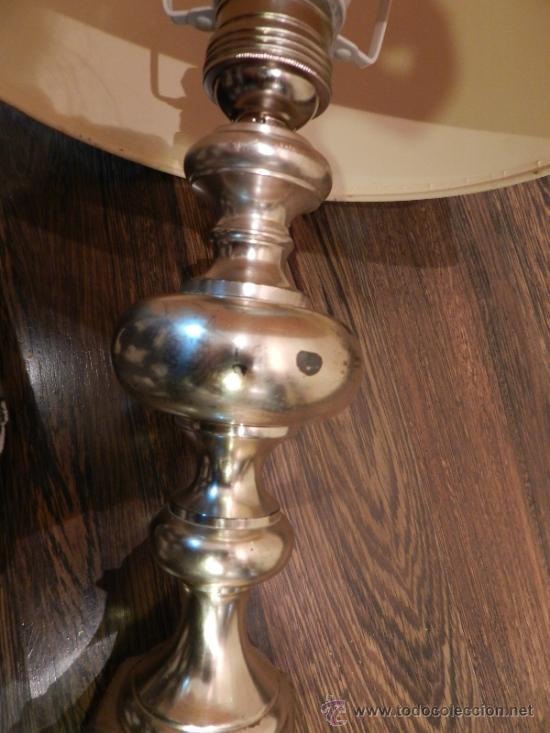 Antigüedades: PRECIOSA LAMPARA DE SOBREMESA EN BRONCE PLATEADO - Foto 7 - 35362815