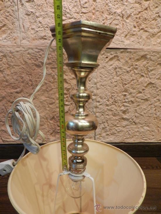 Antigüedades: PRECIOSA LAMPARA DE SOBREMESA EN BRONCE PLATEADO - Foto 6 - 35362815